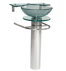 Fresca Ovale Modern Glass Bathroom Pedestal