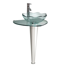 Fresca Netto Modern Glass Bathroom Pedestal