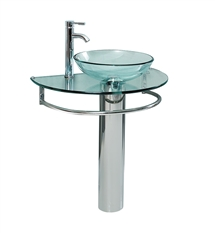 "Fresca Attrazione 28"" Modern Glass Bathroom Pedestal"