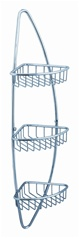 Fresca Magnifico 3 Tier Corner Wire Basket - Chrome