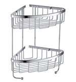 Fresca 2 Tier Wire Basket - Chrome