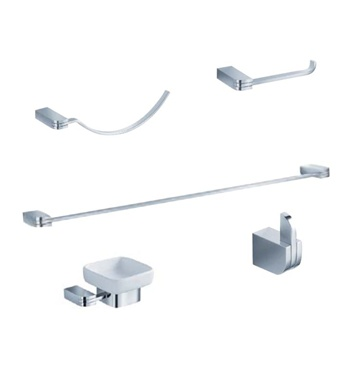 Fresca Solido 5-Piece Bathroom Accessory Set - Chrome