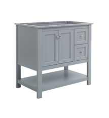 "Fresca Manchester 36"" Gray Traditional Bathroom Cabinet"