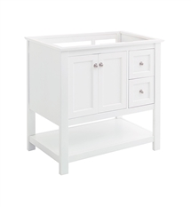 "Fresca Manchester 36"" White Traditional Bathroom Cabinet"