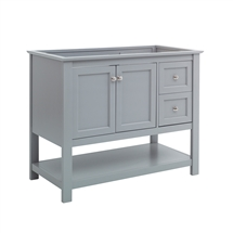 "Fresca Manchester 40"" Gray Traditional Bathroom Cabinet"