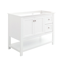 "Fresca Manchester 40"" White Traditional Bathroom Cabinet"