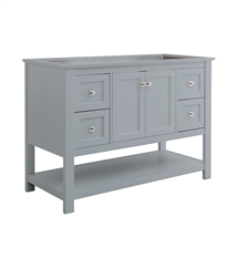 "Fresca Manchester 48"" Gray Traditional Bathroom Cabinet"