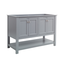 "Fresca Manchester 48"" Gray Traditional Double Sink Bathroom Cabinet"