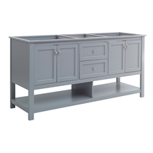 "Fresca Manchester 72"" Gray Traditional Double Sink Bathroom Cabinet"