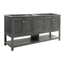 "Fresca Manchester Regal 72"" Gray Wood Veneer Traditional Double Sink Bathroom Cabinet"