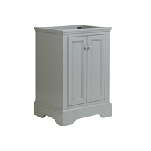 "Fresca Windsor 24"" Gray Textured Traditional Bathroom Cabinet"