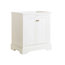"Fresca Windsor 30"" Matte White Traditional Bathroom Cabinet"