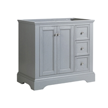 "Fresca Windsor 36"" Gray Textured Traditional Bathroom Cabinet"
