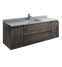 "Fresca Formosa 59"" Wall Hung Single Sink Modern Bathroom Cabinet"