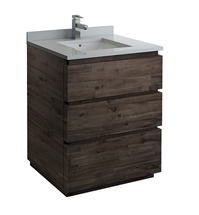 "Fresca Formosa 30"" Floor Standing Modern Bathroom Cabinet with Top & Sink"