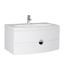 "Fresca Energia 36"" White Modern Bathroom Cabinet with Integrated Sink"