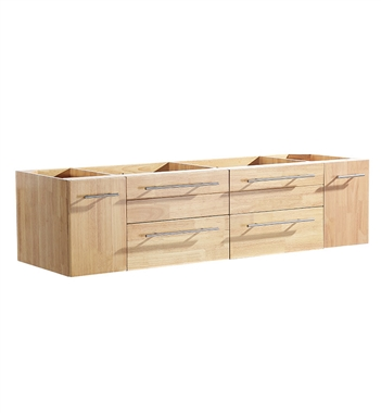 "Fresca Bellezza 59"" Natural Wood Modern Double Sink Cabinet"
