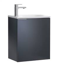 "Fresca Valencia 20"" Dark Slate Gray Wall Hung Modern Bathroom Vanity"