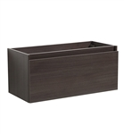 "Fresca Mezzo 39"" Gray Oak Modern Bathroom Cabinet"