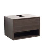 "Fresca Potenza 28"" Gray Oak Modern Bathroom Cabinet"