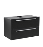 "Fresca Medio 32"" Black Modern Bathroom Cabinet"
