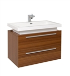Fresca Medio Teak Modern Bathroom Cabinet with Vessel Sink