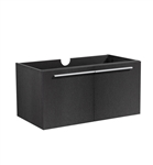 "Fresca Vista 36"" Black Modern Bathroom Cabinet"