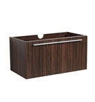 "Fresca Vista 36"" Walnut Modern Bathroom Cabinet"