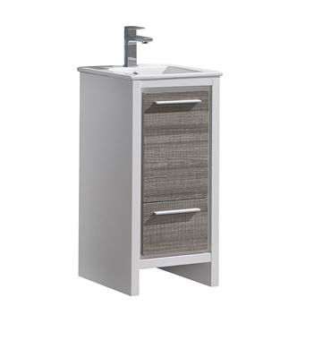 "Fresca Alier Rio 16"" Ash Gray Modern Bathroom Cabinet with Sink"