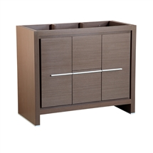 "Fresca Allier 40"" Gray Oak Modern Bathroom Cabinet"