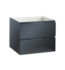 "Fresca Valencia 24"" Dark Slate Gray Wall Hung Modern Bathroom Cabinet"