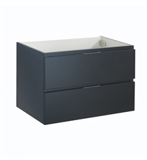 "Fresca Valencia 30"" Dark Slate Gray Wall Hung Modern Bathroom Cabinet"