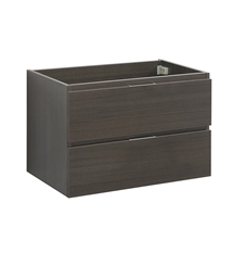 "Fresca Valencia 30"" Gray Oak Wall Hung Modern Bathroom Cabinet"