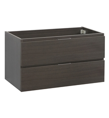 "Fresca Valencia 36"" Gray Oak Wall Hung Modern Bathroom Cabinet"