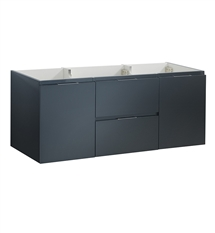 "Fresca Valencia 48"" Dark Slate Gray Wall Hung Single Sink Modern Bathroom Cabinet"