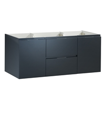 "Fresca Valencia 48"" Dark Slate Gray Wall Hung Double Sink Modern Bathroom Cabinet"