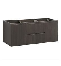 "Fresca Valencia 48"" Gray Oak Wall Hung Single Sink Modern Bathroom Cabinet"