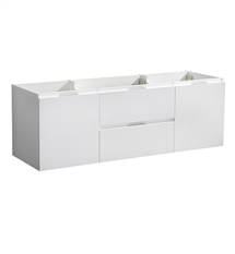 "Fresca Valencia 48"" Glossy White Wall Hung Single Sink Modern Bathroom Cabinet"