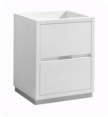 "Fresca Valencia 24"" Glossy White Free Standing Modern Bathroom Cabinet"