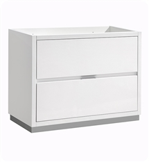"Fresca Valencia 40"" Glossy White Free Standing Modern Bathroom Cabinet"