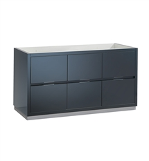 "Fresca Valencia 60"" Dark Slate Gray Free Standing Single Sink Modern Bathroom Cabinet"