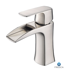 Fresca Fortore Single Hole Mount Bathroom Vanity Faucet - Brushed Nickel