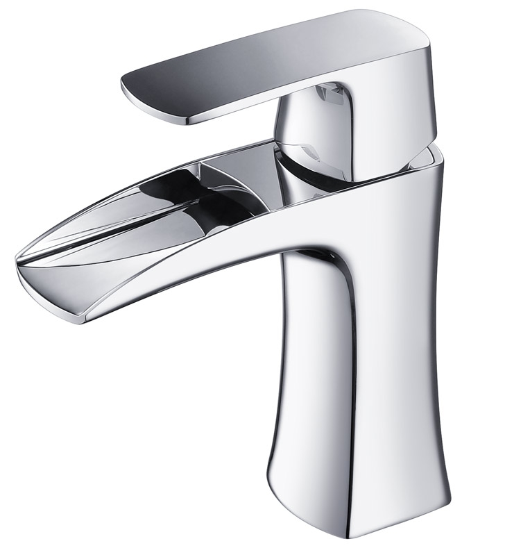 Fresca Fortore Single Hole Mount Bathroom Vanity Faucet Chrome