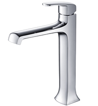Fresca Verdura Single Hole Vessel Mount Bathroom Vanity Faucet - Chrome