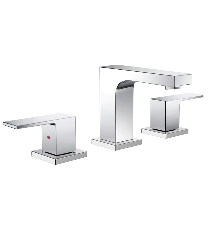 Fresca Sesia Widespread Mount Bathroom Vanity Faucet Chrome