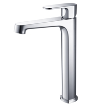 Fresca Gravina Single Hole Vessel Mount Bathroom Vanity Faucet - Chrome