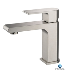 Fresca Allaro Single Hole Mount Bathroom Vanity Faucet - Brushed Nickel