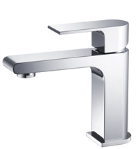 Fresca Allaro Single Hole Mount Bathroom Vanity Faucet - Chrome