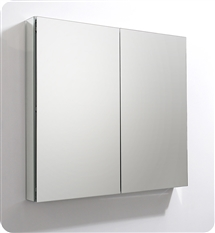 "Fresca 40"" Wide x 36"" Tall Bathroom Medicine Cabinet with Mirrors"