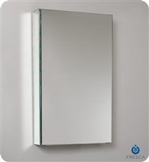 "Fresca 15"" Wide x 26"" Tall Bathroom Medicine Cabinet with Mirrors"